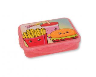 קופסת אוכל בורגר מחולקת שטוחה LOOPY