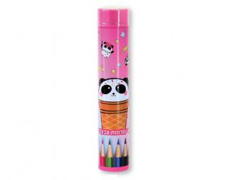12 עפרונות צבעוניים קופסת פח LOOPY