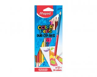 עפרונות צבעוניים דו צדדי 24 גוונים MAPED DUO
