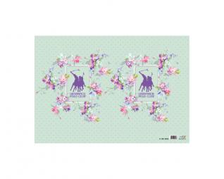 מארז 10 עטיפות לספר למינציה 35/50 פולו פרחים ירוק