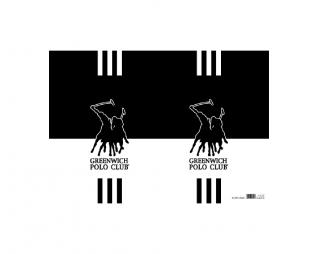 מארז 10 עטיפות לספר למינציה 35/50 פולו שחור לבן