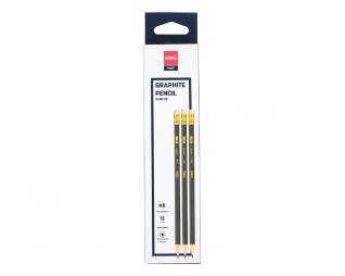 עפרונות 12 יח' DELI HB2