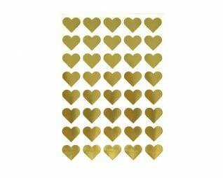 """מדבקות זהב לבבות 20 מ""""מ 10 דפים SEART"""