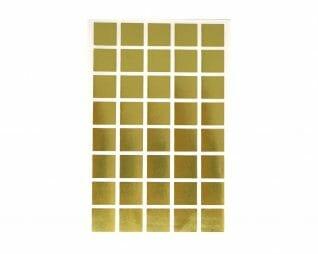 """מדבקות זהב ריבועים 18 מ""""מ 10 דפים SEART"""
