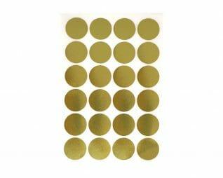 מדבקות זהב עיגולים 10 דפים SEART