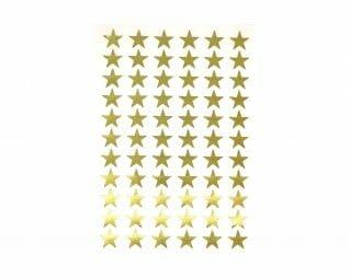"""מדבקות זהב כוכבים 15 מ""""מ 10 דפים SEART"""