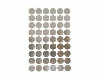 """מדבקות כסף עיגולים 16 מ""""מ 10 דפים SEART"""
