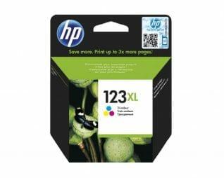 ראש דיו צבעוני מקורי HP 123XL