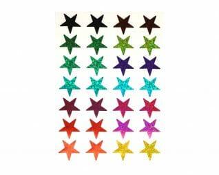 מדבקות הולוגרמיות כוכבים מיקס 10 דפים SEART