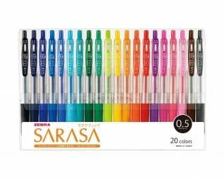 מארז 20 עטי זברה רול ג'ל צבעוניים 0.5 ZEBRA