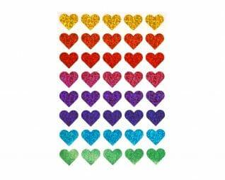 מדבקות הולוגרמיות לבבות מיקס 10 דפים SEART