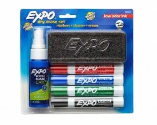 סט 4 טושים + ספר + מחק אקספו EXPO