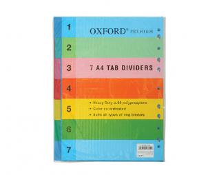 מארז 7 חוצצים עבים פלסטיק אוקספורד OXFORD