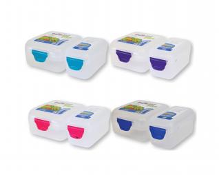"""קופסת אוכל 2 חלקים פרוזן + ידית צבעונית  1100 מ""""ל PICNIC"""