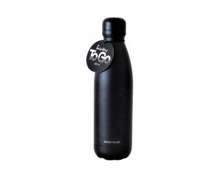 """בקבוק נירוסטה שומר קור/חום 600 מ""""ל שחור"""