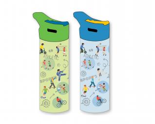 """בקבוק אקרילי מעוצב בנים 550מ""""ל LOOPY 2021"""