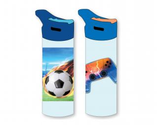 """בקבוק אקרילי גיימר/כדורגל 550מ""""ל LOOPY 2021"""