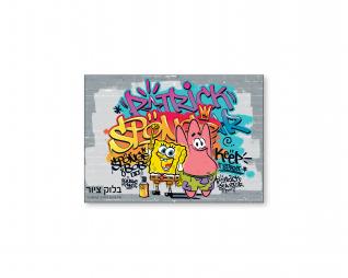 בלוק ציור בוב ספוג היפ הופ דאנס שמינית גיליון BOB SPONGE
