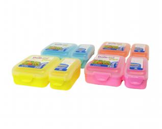 """קופסת אוכל מחולקת 1100 מ""""ל צבעי פסטל PICNIC"""