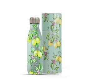"""בקבוק נירוסטה לימון ירוק תרמי 500 מ""""ל + מארז מתנה INWAY"""