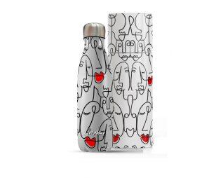 """בקבוק נירוסטה FACE 500 מ""""ל + מארז מתנה INWAY"""