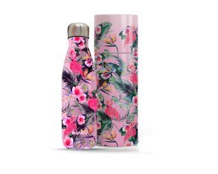 """בקבוק נירוסטה פרחים תרמי 500 מ""""ל + מארז מתנה INWAY"""
